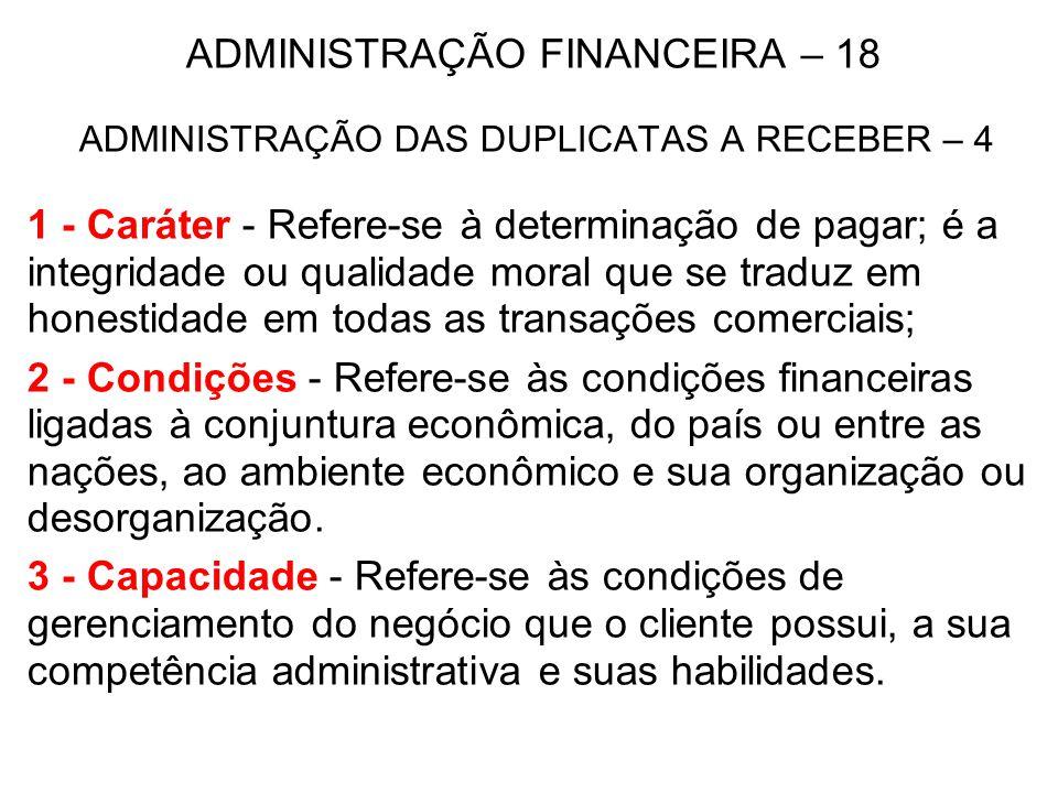 ADMINISTRAÇÃO FINANCEIRA – 18