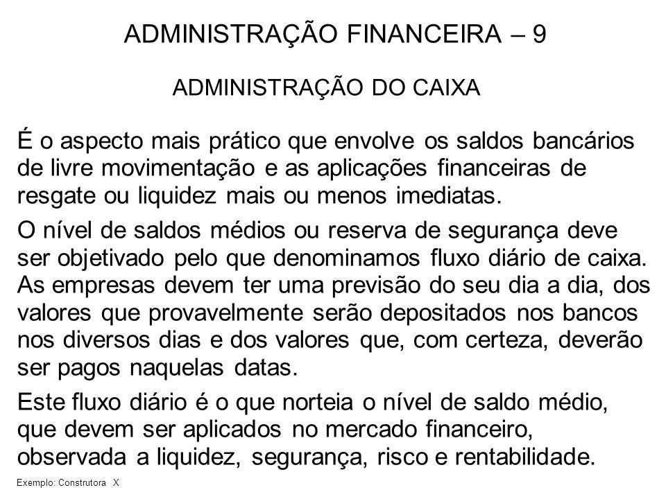 ADMINISTRAÇÃO FINANCEIRA – 9