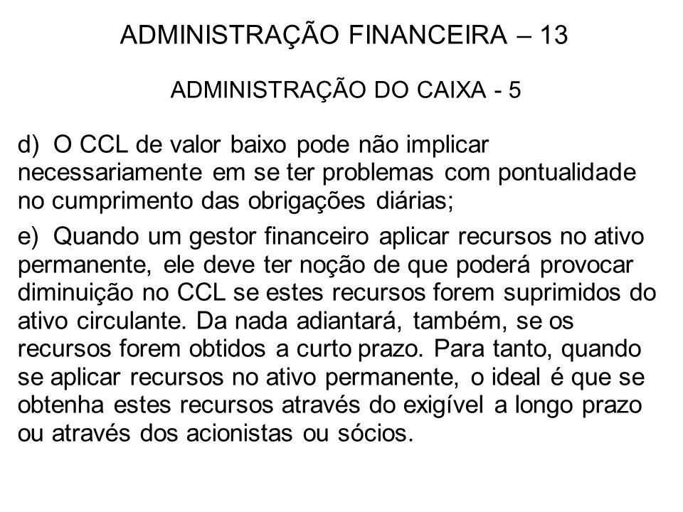 ADMINISTRAÇÃO FINANCEIRA – 13