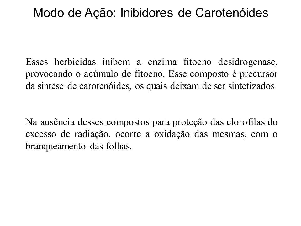 Modo de Ação: Inibidores de Carotenóides