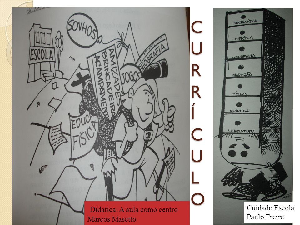 CURR Í CULO Didatica: A aula como centro Cuidado Escola Marcos Masetto