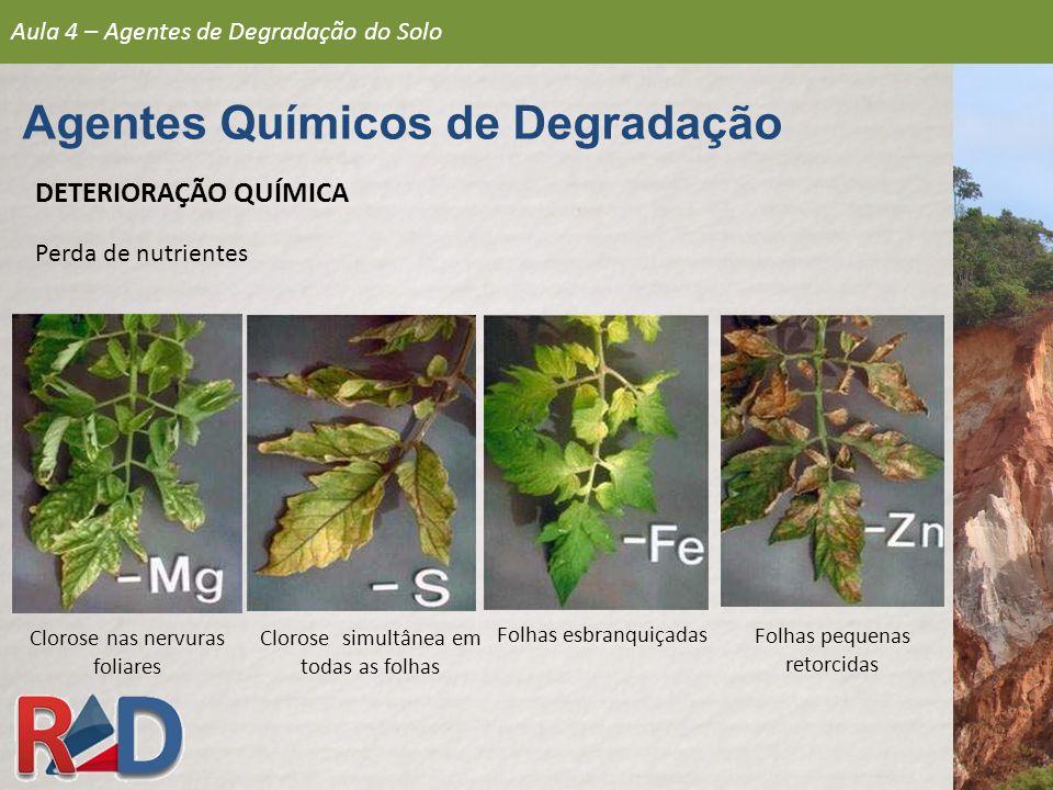 Agentes Químicos de Degradação