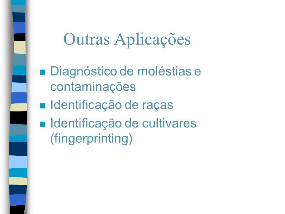 Outras Aplicações Diagnóstico de moléstias e contaminações