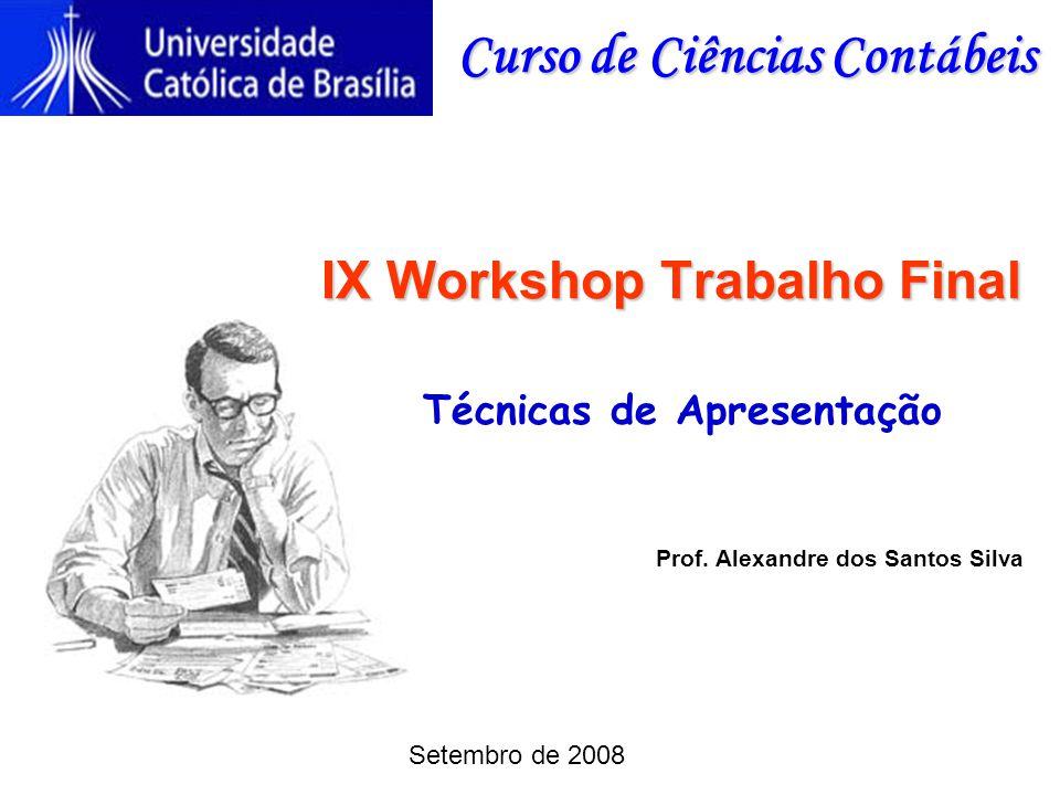 IX Workshop Trabalho Final