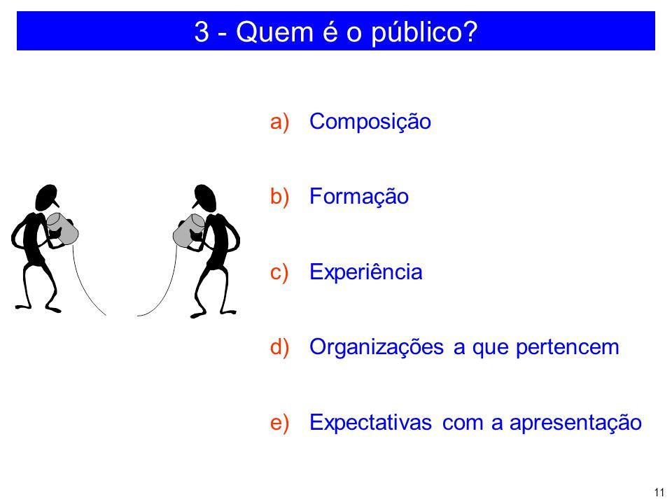 3 - Quem é o público Composição Formação Experiência