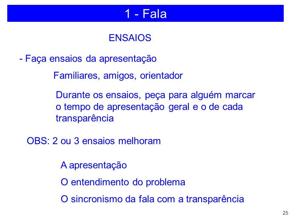 1 - Fala ENSAIOS - Faça ensaios da apresentação
