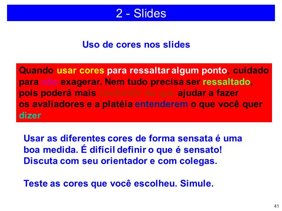 2 - Slides Uso de cores nos slides