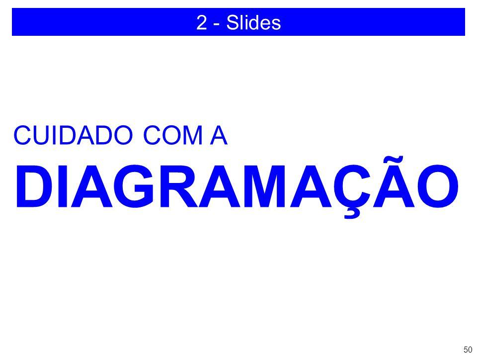 2 - Slides CUIDADO COM A DIAGRAMAÇÃO