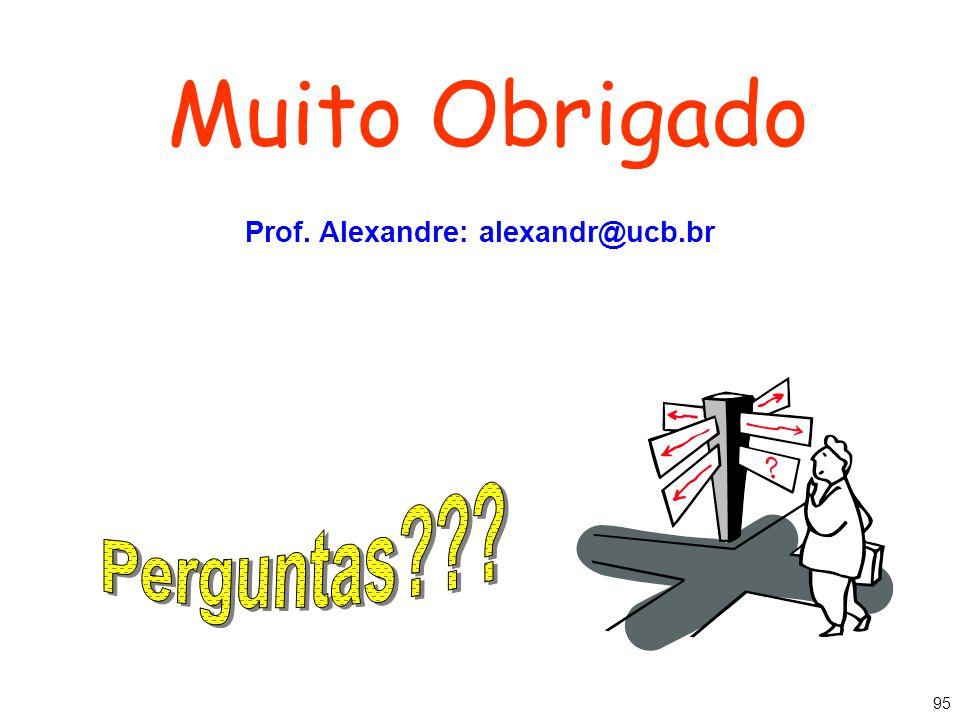 Prof. Alexandre: alexandr@ucb.br