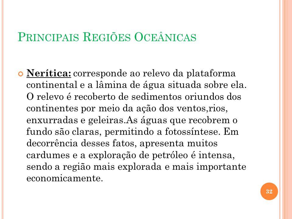 Principais Regiões Oceânicas
