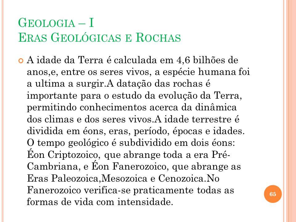 Geologia – I Eras Geológicas e Rochas