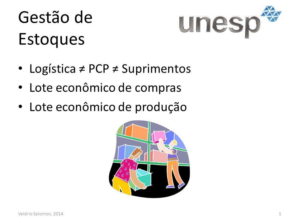 Gestão de Estoques Logística ≠ PCP ≠ Suprimentos