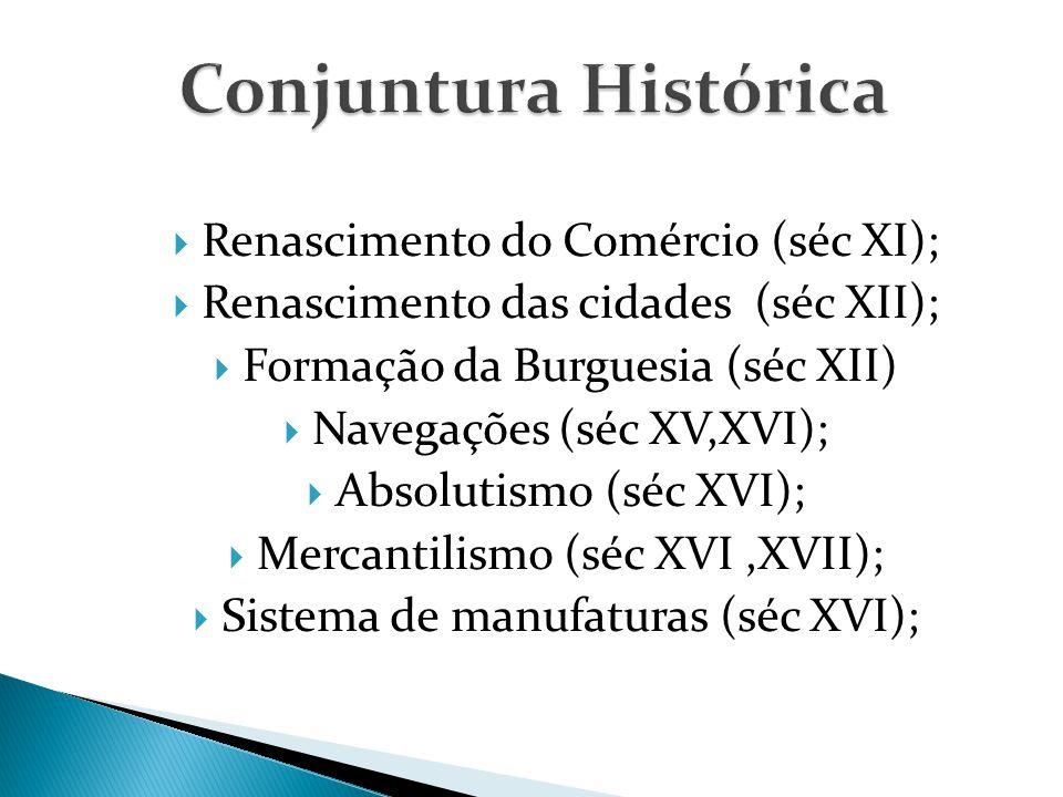 Conjuntura Histórica Renascimento do Comércio (séc XI);