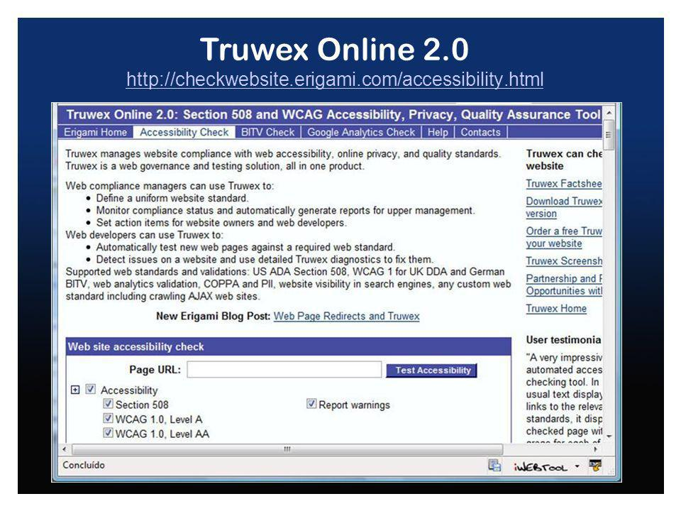 Truwex Online 2.0 http://checkwebsite.erigami.com/accessibility.html