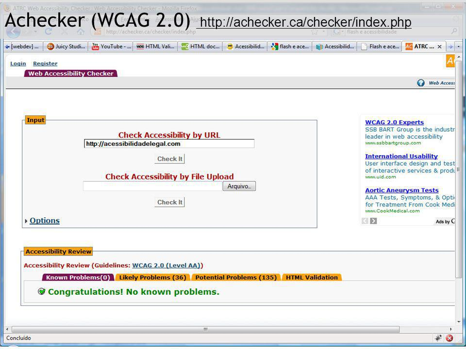Achecker (WCAG 2.0) http://achecker.ca/checker/index.php
