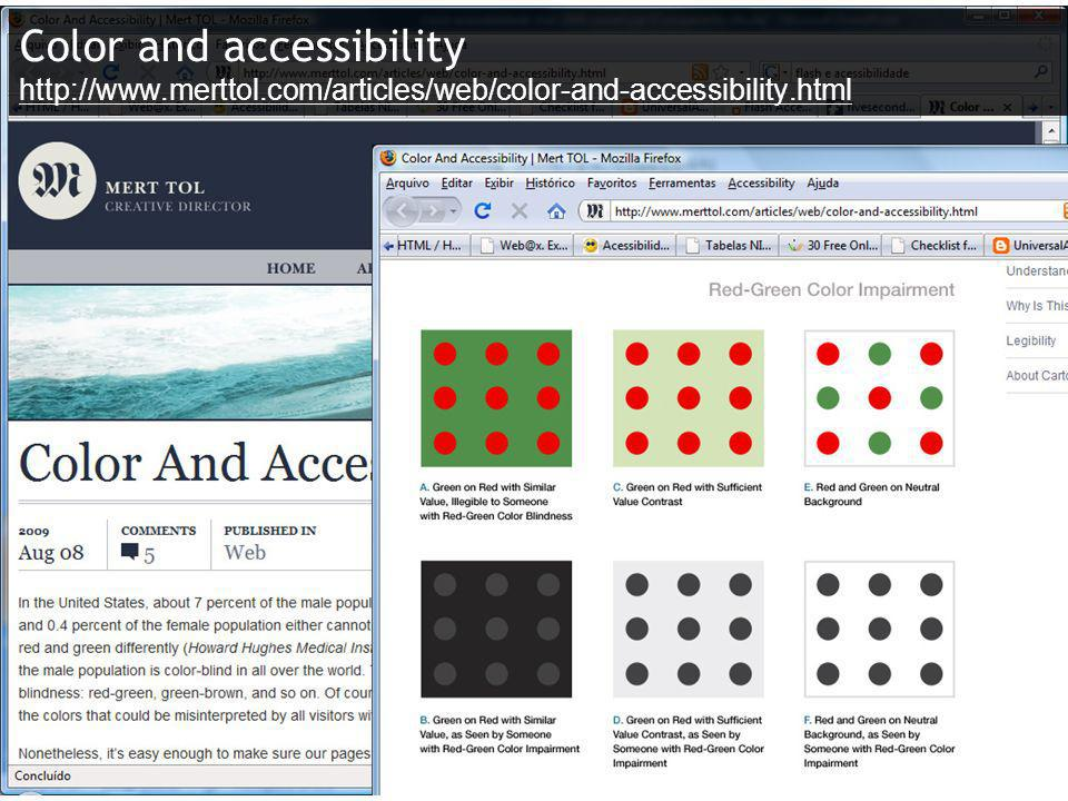 Color and accessibility http://www. merttol