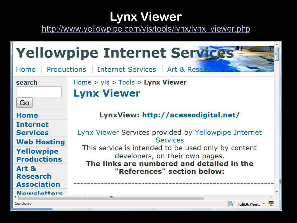 Lynx Viewer http://www.yellowpipe.com/yis/tools/lynx/lynx_viewer.php