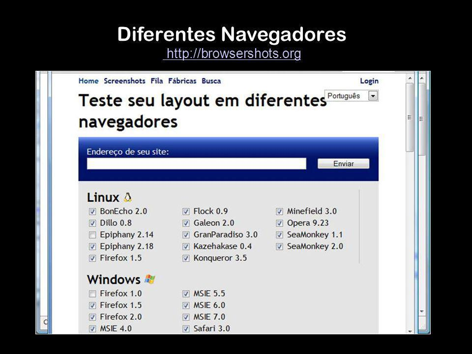 Diferentes Navegadores http://browsershots.org