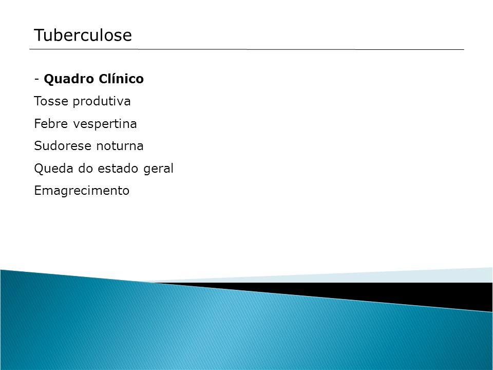 Tuberculose Quadro Clínico Tosse produtiva Febre vespertina