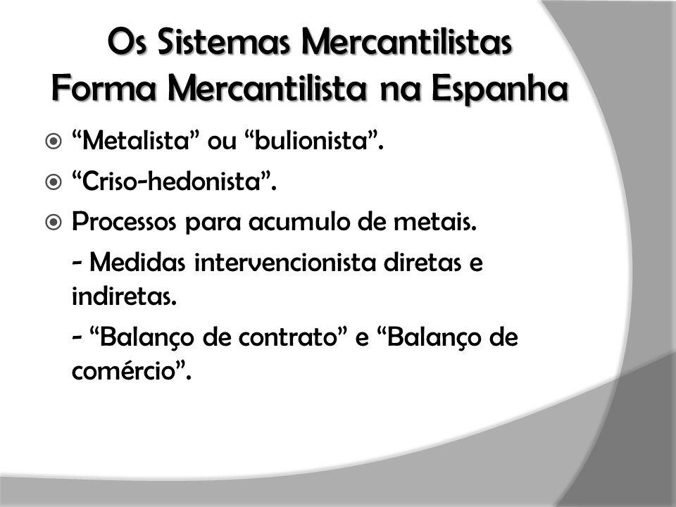Os Sistemas Mercantilistas Forma Mercantilista na Espanha
