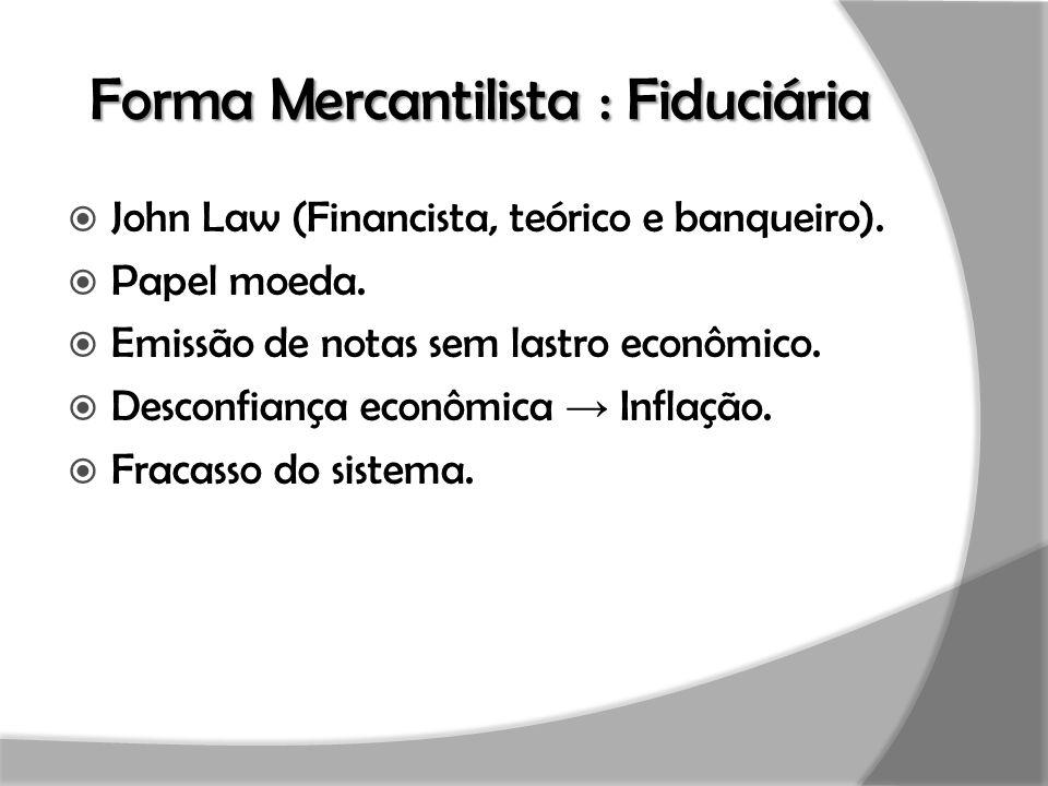 Forma Mercantilista : Fiduciária