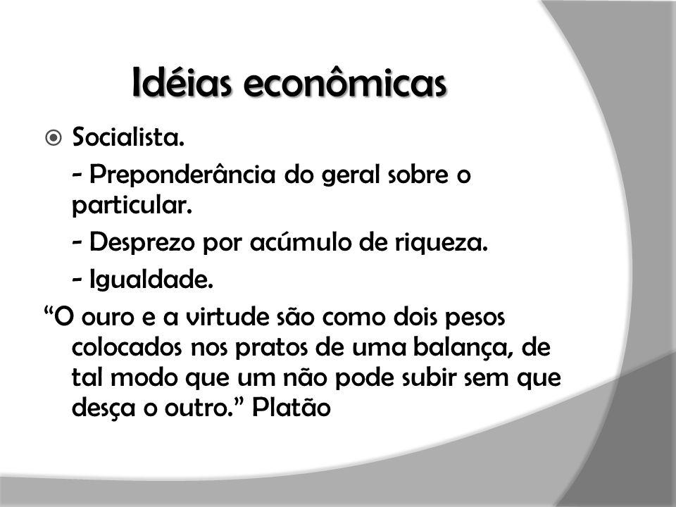 Idéias econômicas Socialista.