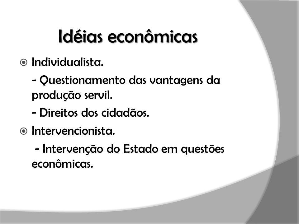 Idéias econômicas Individualista.