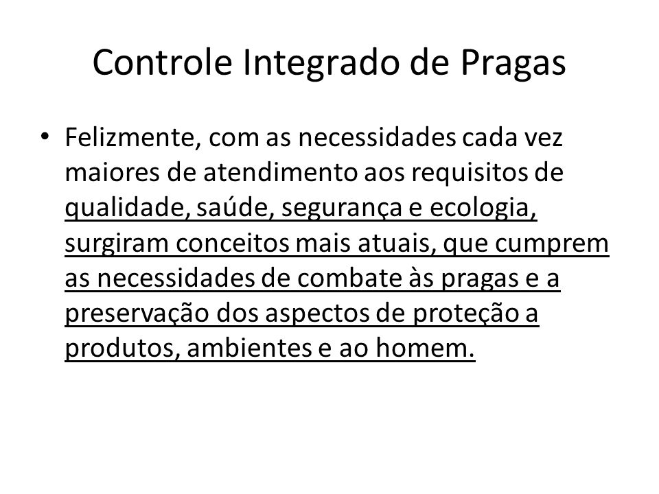 Controle Integrado de Pragas