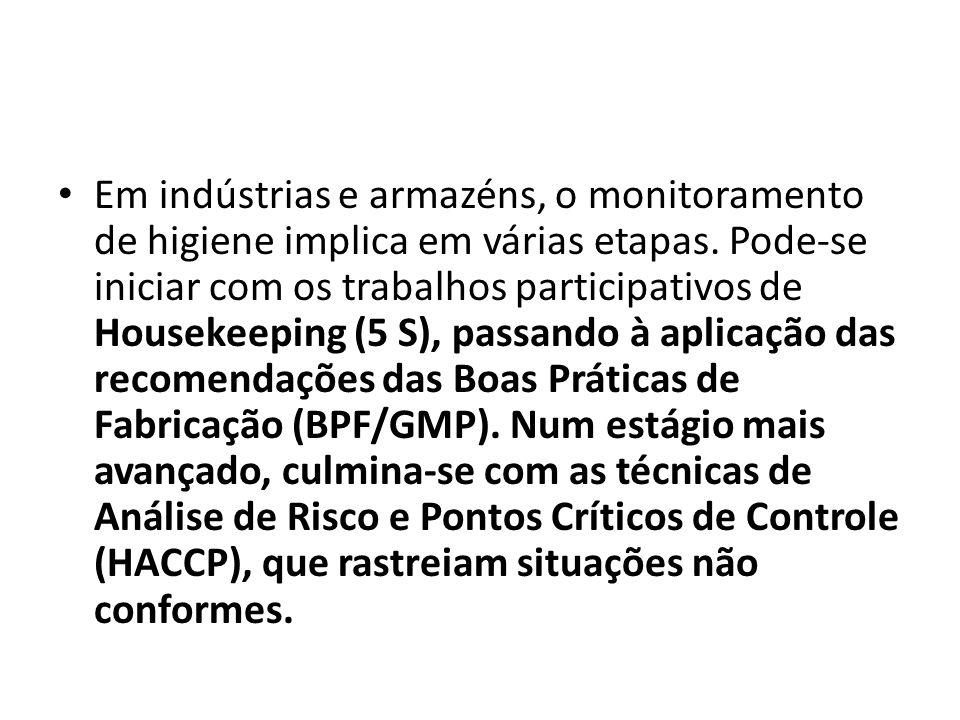 Em indústrias e armazéns, o monitoramento de higiene implica em várias etapas.