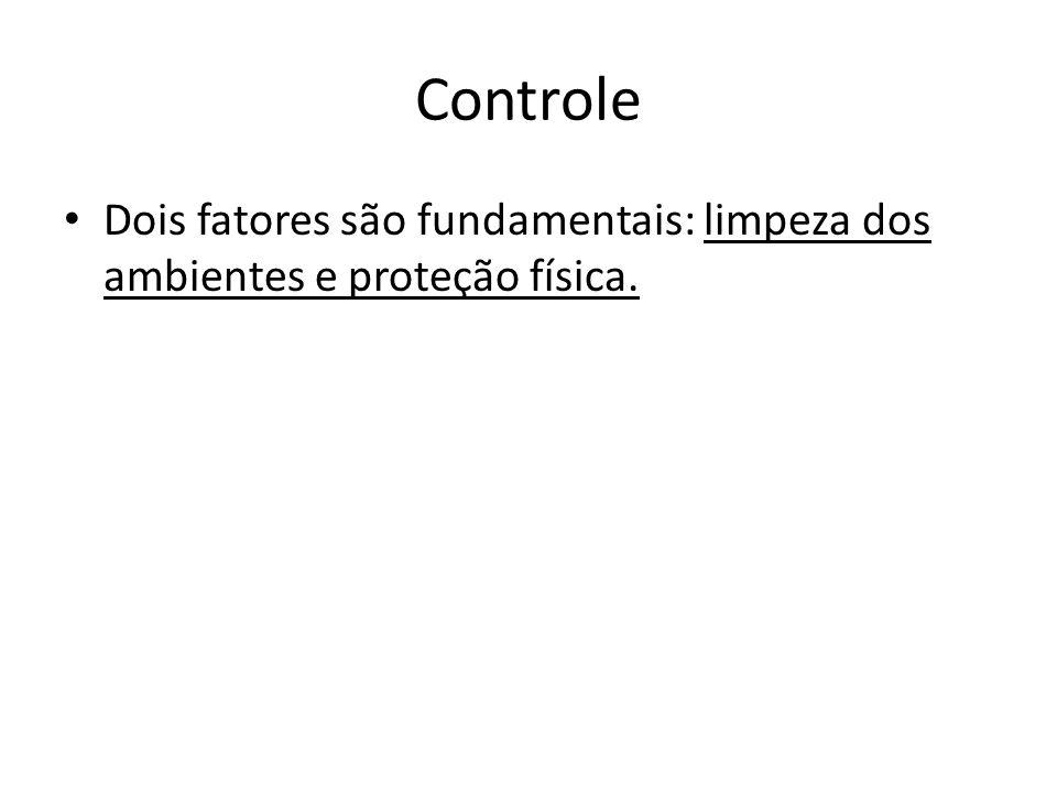 Controle Dois fatores são fundamentais: limpeza dos ambientes e proteção física.