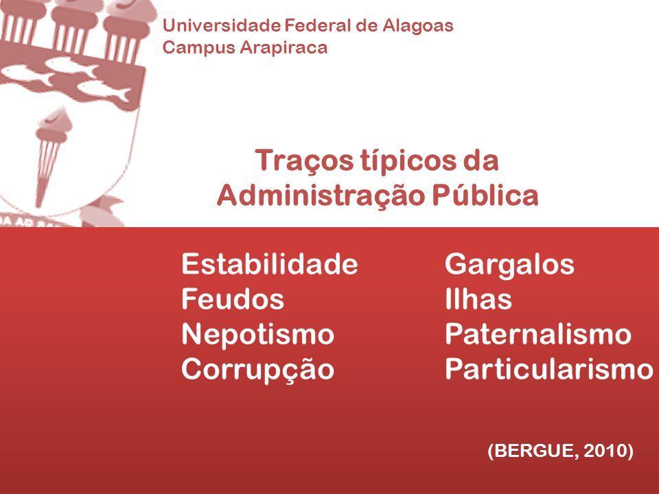 Traços típicos da Administração Pública