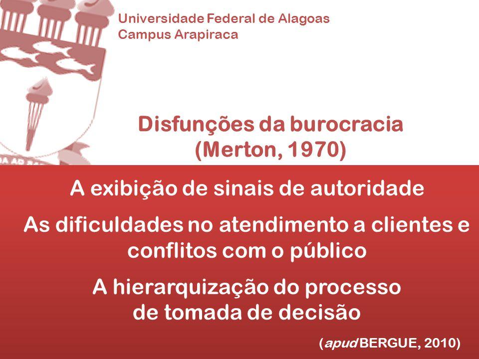 Disfunções da burocracia