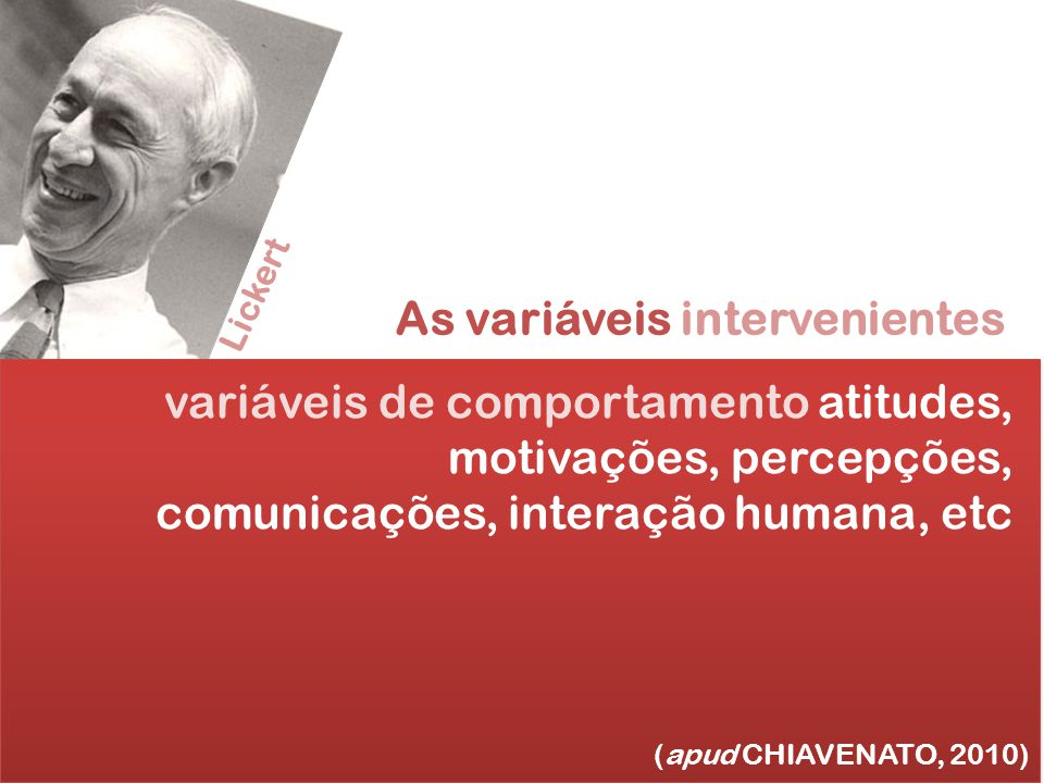 As variáveis intervenientes