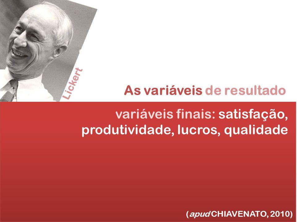 As variáveis de resultado