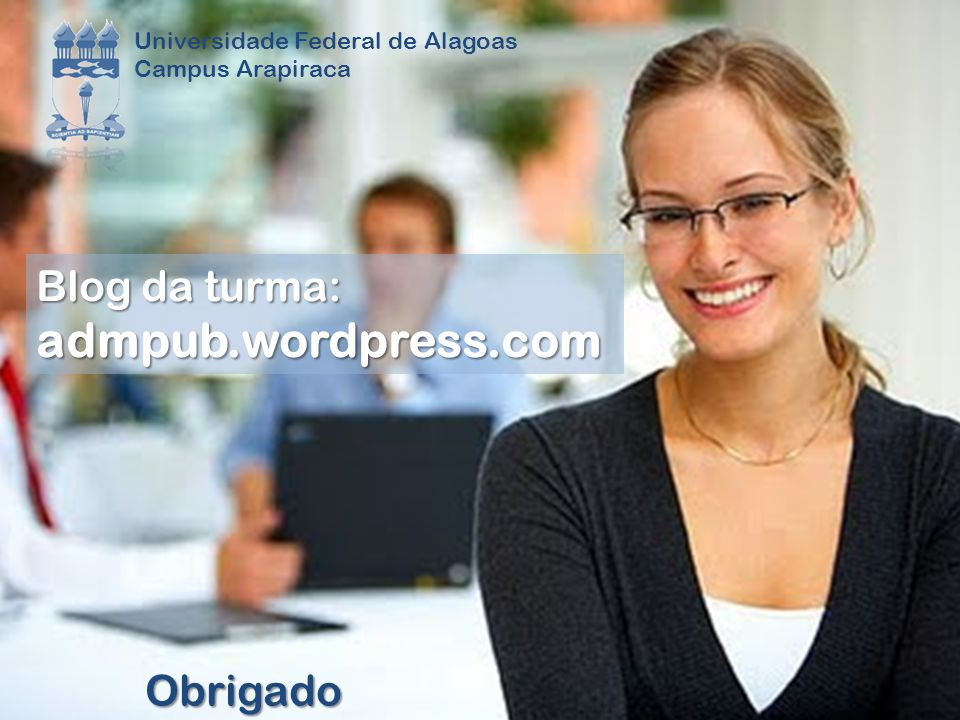 admpub.wordpress.com Blog da turma: Obrigado