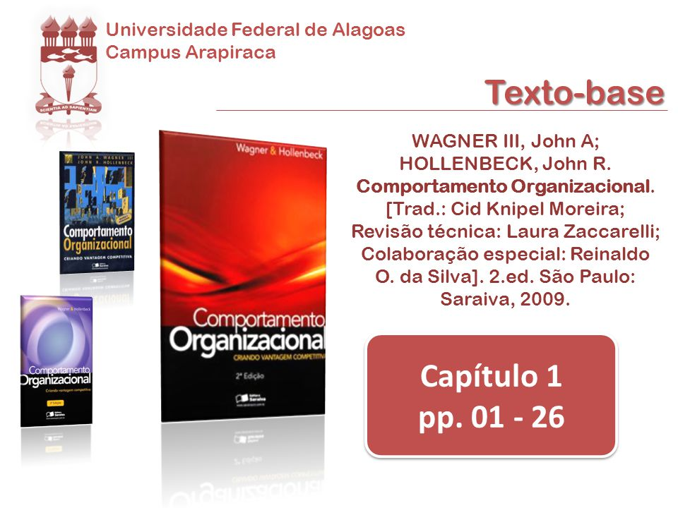Texto-base Capítulo 1 pp. 01 - 26 Universidade Federal de Alagoas