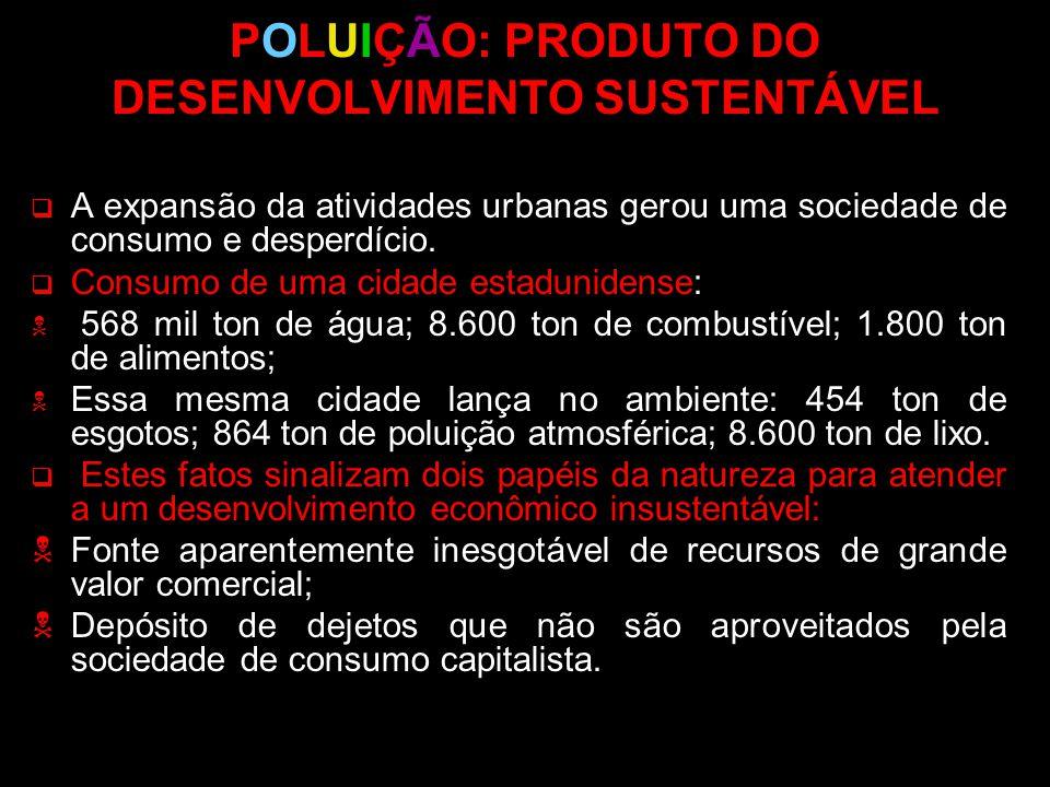 POLUIÇÃO: PRODUTO DO DESENVOLVIMENTO SUSTENTÁVEL