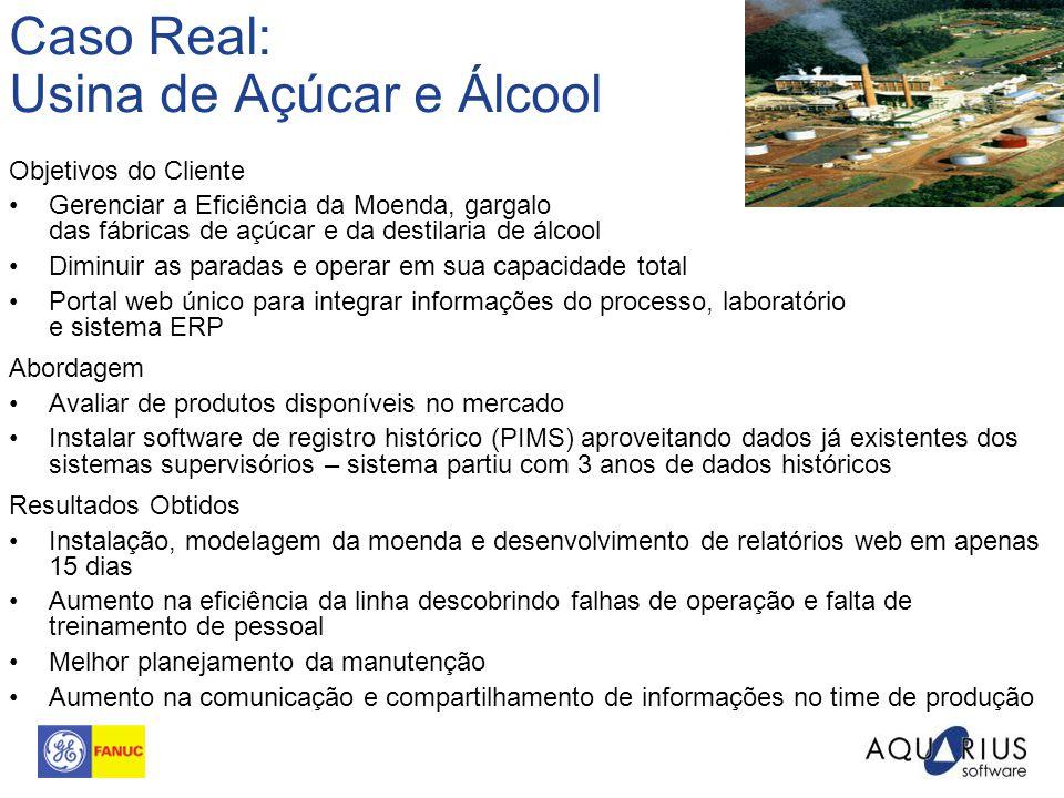 Caso Real: Usina de Açúcar e Álcool