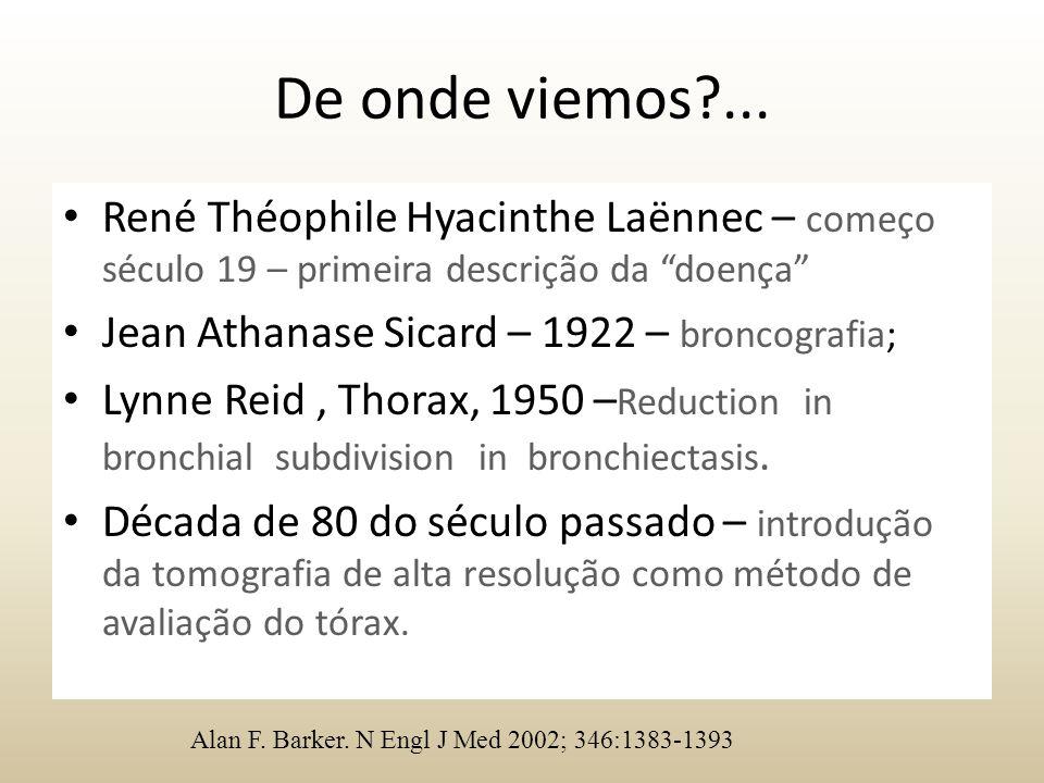 De onde viemos ... René Théophile Hyacinthe Laënnec – começo século 19 – primeira descrição da doença