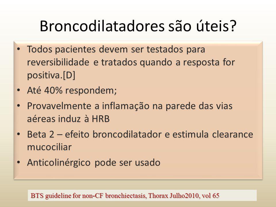Broncodilatadores são úteis