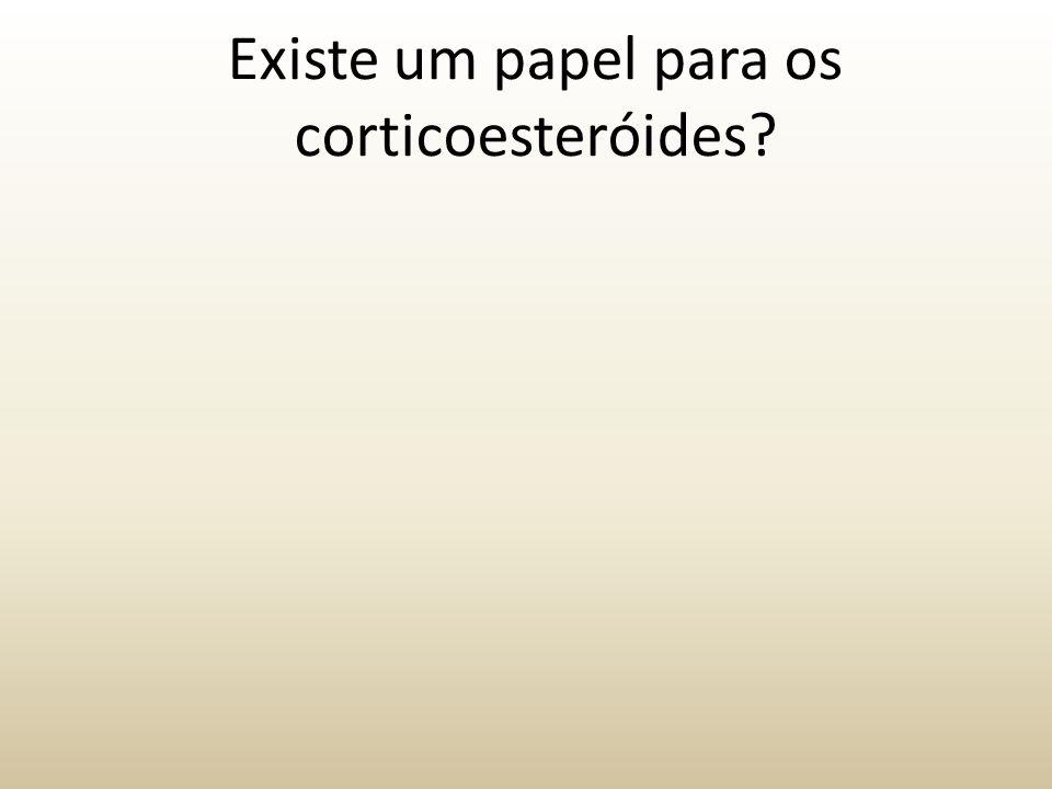 Existe um papel para os corticoesteróides