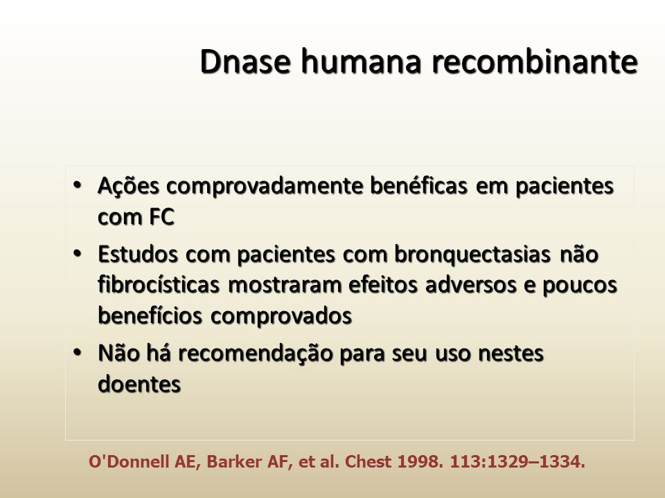 Dnase humana recombinante