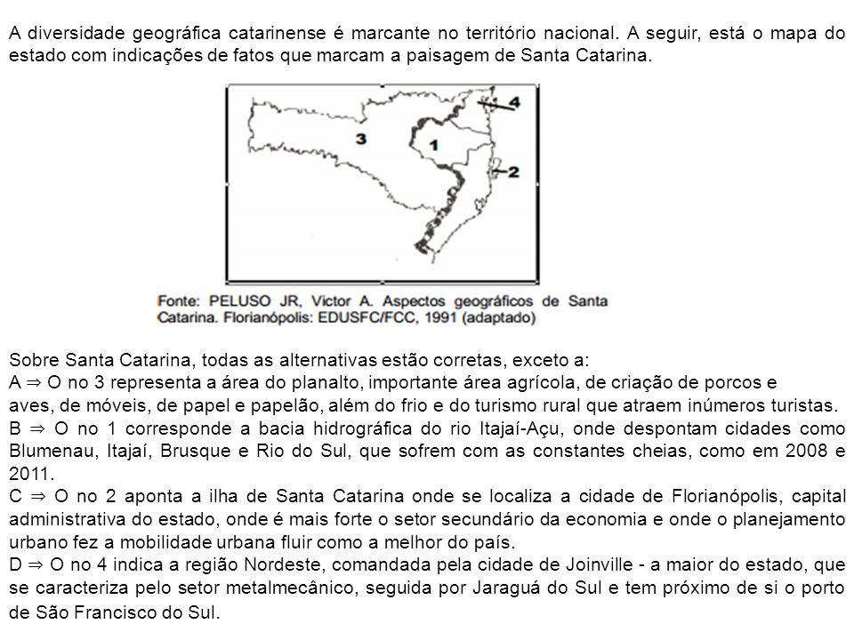 A diversidade geográfica catarinense é marcante no território nacional