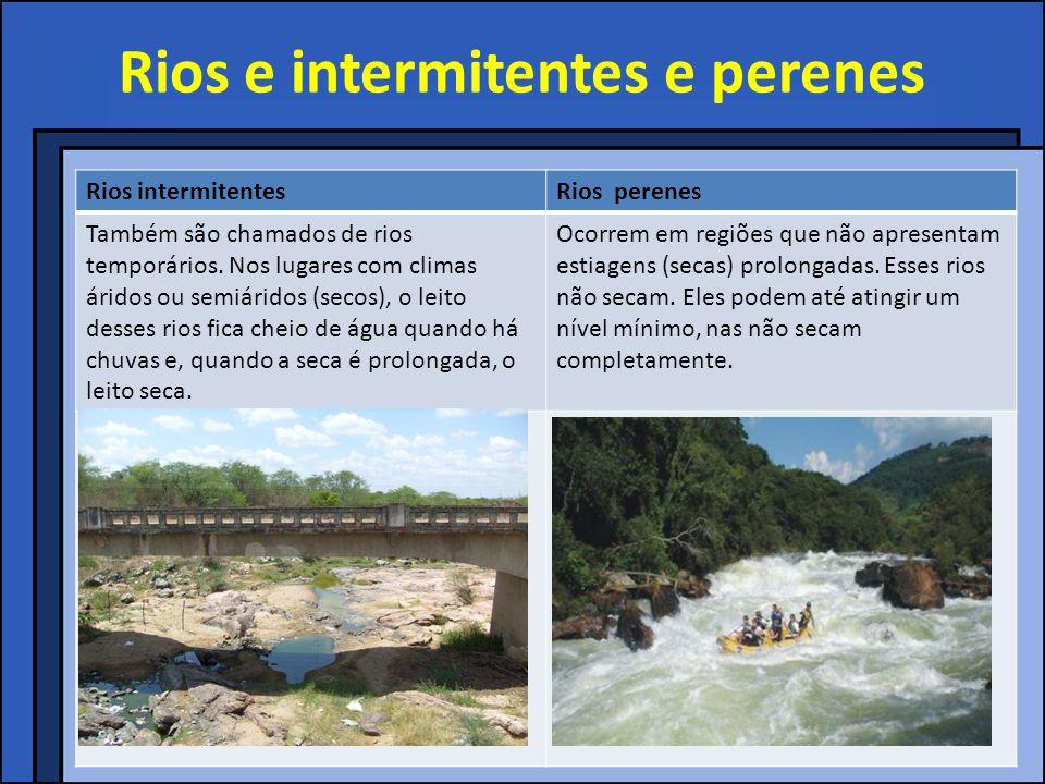 Rios e intermitentes e perenes