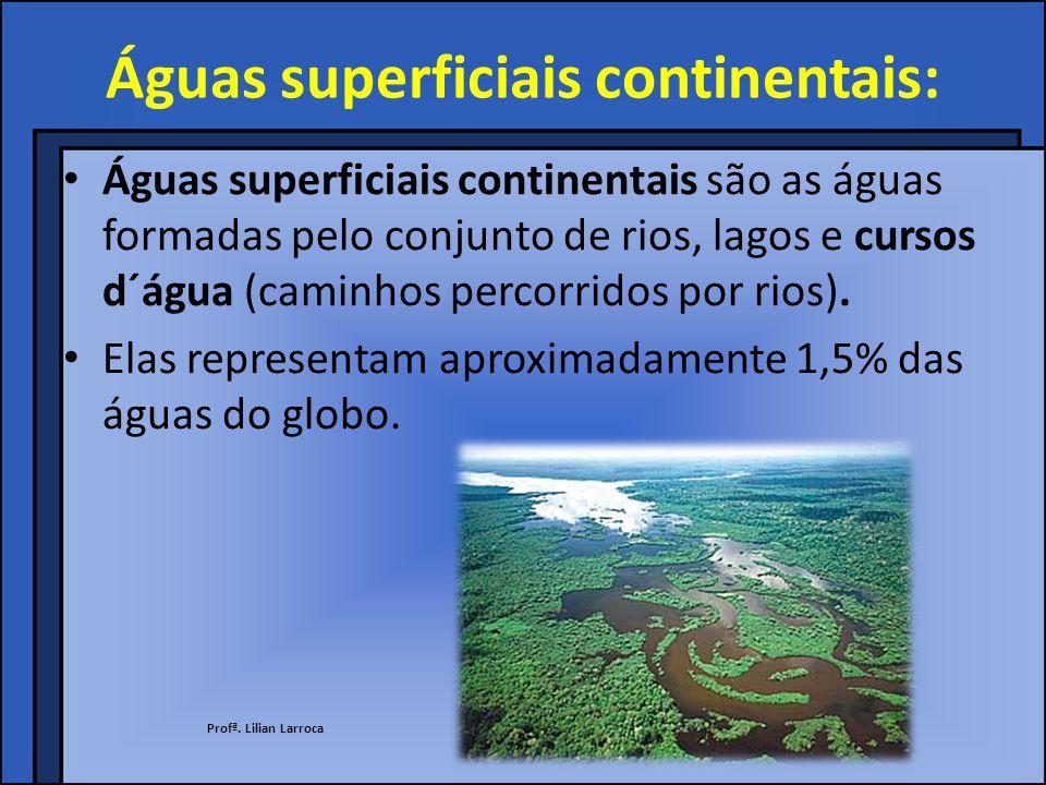 Águas superficiais continentais:
