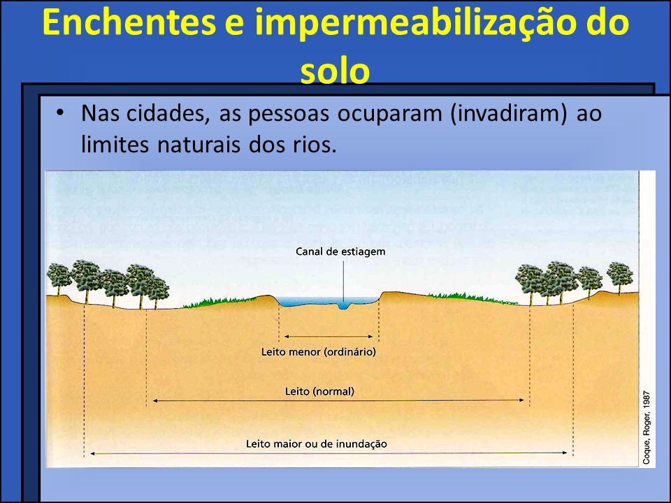 Enchentes e impermeabilização do solo