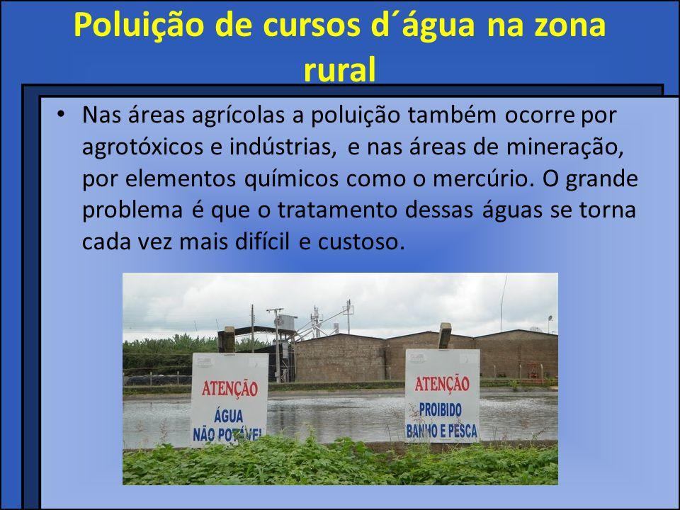 Poluição de cursos d´água na zona rural