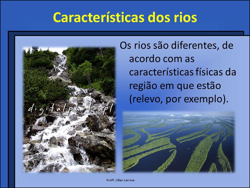 Características dos rios