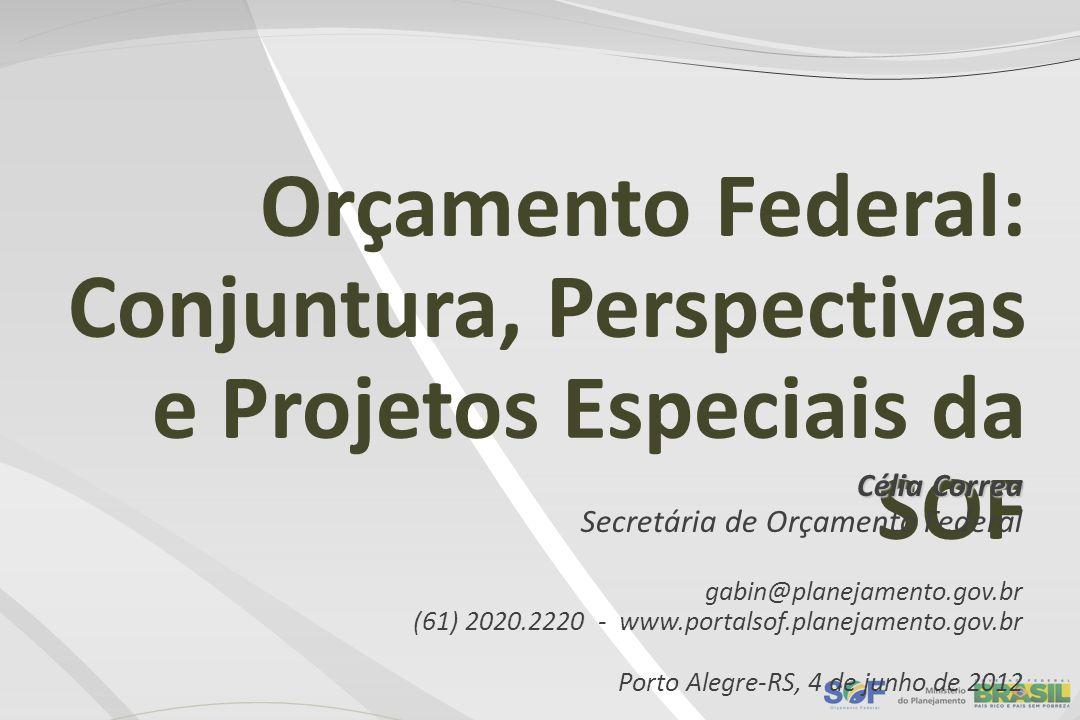 Orçamento Federal: Conjuntura, Perspectivas e Projetos Especiais da SOF