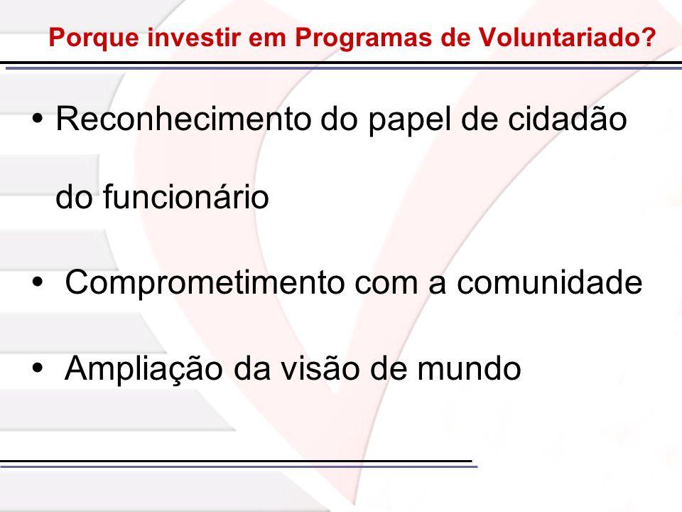 Porque investir em Programas de Voluntariado